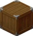 Example of a wooden crate found in the warehouse.