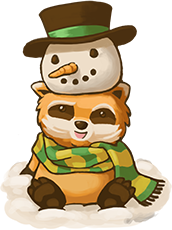Spiffo the Community Raccoon encourages you to have a great Christmas.