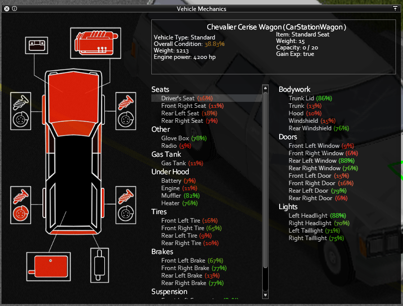 Build 39 pzwiki to accompany vehicles a mechanic profession and skill have also been added to the game click to enlarge forumfinder Gallery